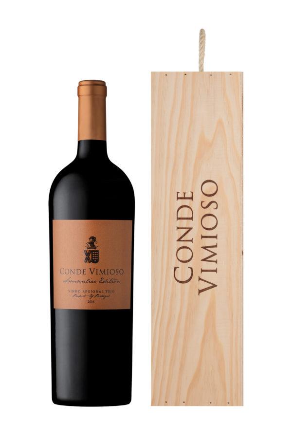Conde Vimioso Sommelier Edition Tinto Magnum cx. individual de madeira