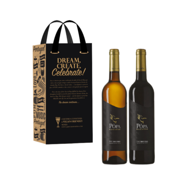 Dream, Create, Celebrate - Pôpa Black Edition Tinto e Branco